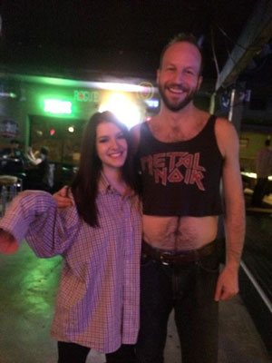 Stand up comedian Gabe Kea performed a shirt swap!