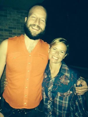 Stand up comedian Gabe Kea performed a shirt swap with stand up comedian Sally Brooks